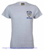 NYPD Embroidered Patch Ash Tee