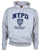 NYPD Full Chest Ash Hooded Sweatshirt