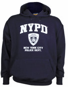NYPD Full Chest Navy Hooded Sweatshirt