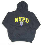 NYPD Embroidered Navy Hooded Sweatshirt