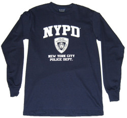 NYPD Full Chest Navy LS Tee
