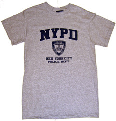 NYPD Grey Full Chest Tee alt