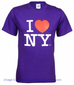 Purple I Love NY Tee Shirt