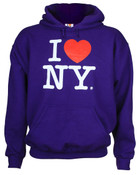 I Love NY Purple Hooded Sweatshirt