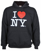 I Love NY Black Hooded Sweatshirt