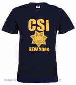 CSI New York Navy Tee front