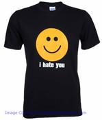 I Hate You Smiley Tee