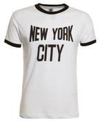 New York City White Ringer Tee