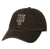 "New York Mets Black ""Franchise"" Fitted Cap"