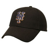 """New York Mets Black """"MVP"""" Adjustable Cap"""