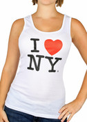 White I Love NY Tank Top