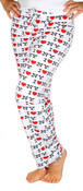 I Love NY White All-over Print Pajama Pants - front