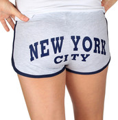 New York City Ash/Navy Hi-Cut Shorts -back