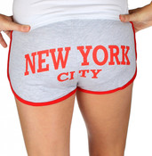 New York City Ash/Red Hi-Cut Shorts - butt