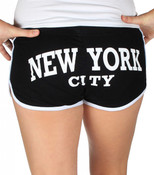 New York City Black Hi-Cut Shorts - butt