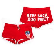 FDNY Red Hi-Cut Shorts