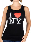 Black I Love NY Ladies Tank Top