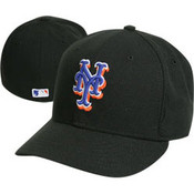 New Era Mets 59FIFTY Black Authentic Game Cap