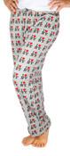 I Love NY Grey Allover Print Pajama - front