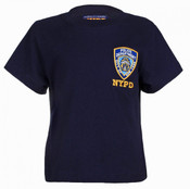 NYPD Embroidered Patch Navy Kids Tee