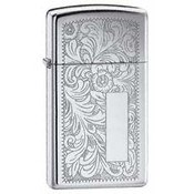 Slim Venetian High Polish Chrome Zippo