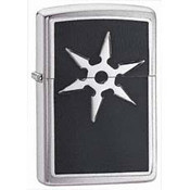 6 Point Throwing Star Emblem Zippo