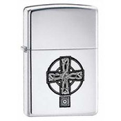 Celtic Cross High Polish Chrome Zippo