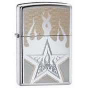 Fire Star High Polish Chrome Zippo