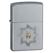 Ring Of Fire Satin Chrome Zippo
