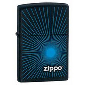 Zippo Blue Starburst Black Matte Zippo