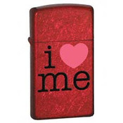 Slim I love Me Candy Apple Red Zippo