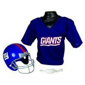New York Giants Kids Small Helmet & Jersey Set