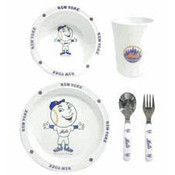 New York Mets 5 pc. Dinner Set