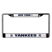 Yankees Metal License Plate Frame