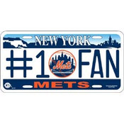 New York Mets #1 Fan License Plate