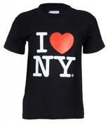 """I Love NY """"Classic"""" Black Kids Tee"""