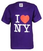 "I Love NY ""Classic"" Purple Kids Tee"