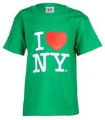 """I Love NY """"Classic"""" Green Kids Tee"""