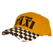 New York Taxi Checkered Adjustable Cap