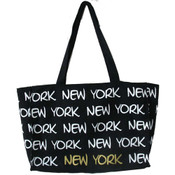 Robin-Ruth NY Black/White/Gold Tote Bag