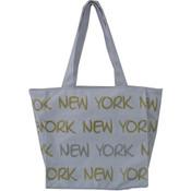 Robin-Ruth NY White/Gold Small Tote Bag