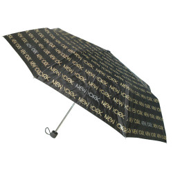 New York Black/Gold Umbrella