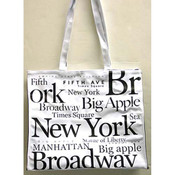 NYC Black Letters PVC Hand Bag