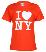 Orange I Love NY Kids Tee
