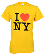 Yellow I Love NY Tee Shirt