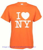 Orange I Love NY T-Shirt