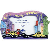 "New York ""Night"" 4x6 Ceramic Picture Frame"