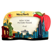 "New York ""Skyline"" 4x6 Ceramic Picture Frame"