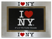 I Love NY 4x6 Picture Frame