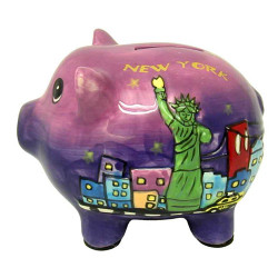 Statue of Liberty Ceramic Piggy Bank